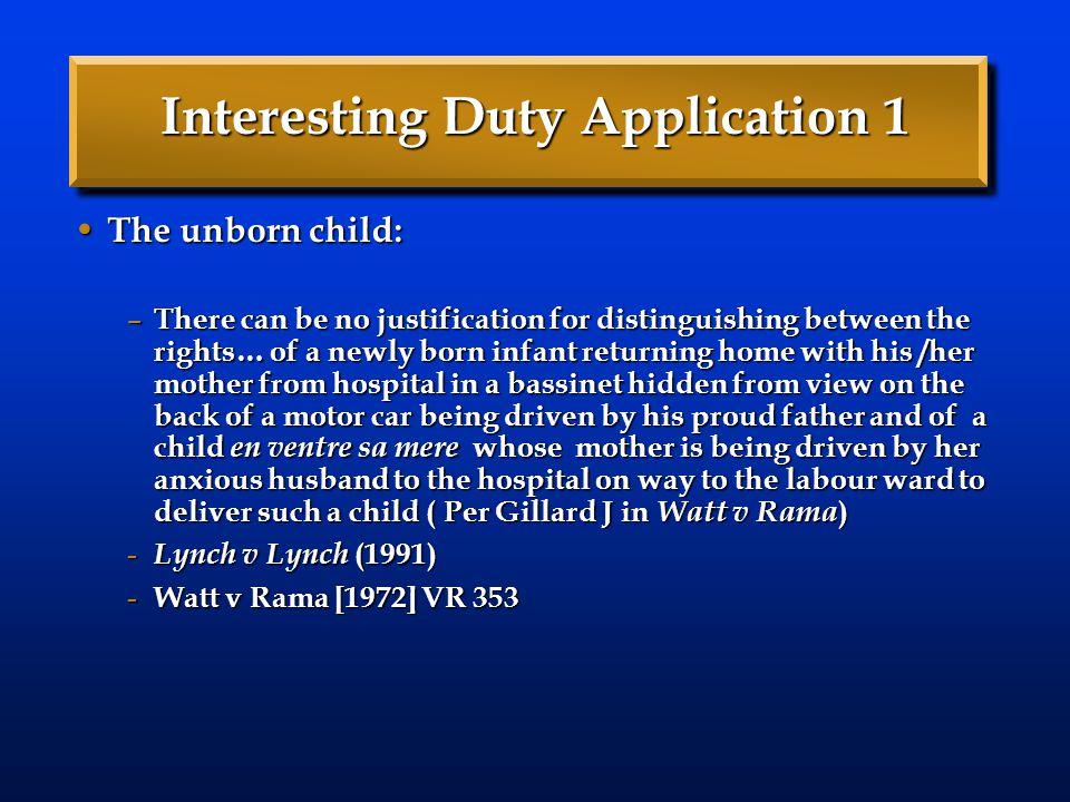 Interesting Duty Application 1