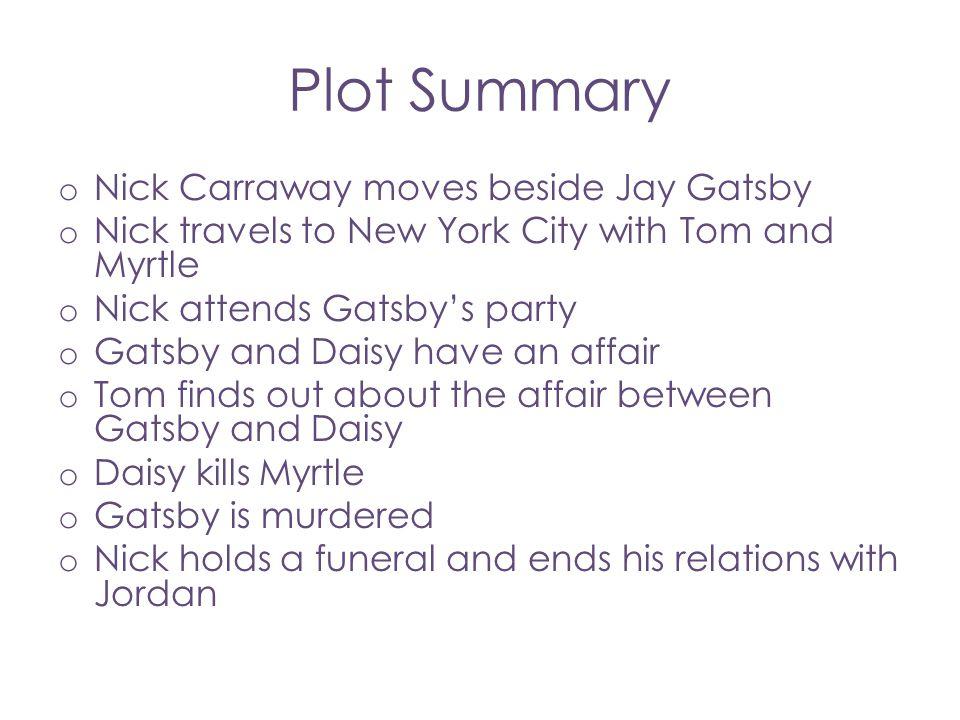 Plot Summary Nick Carraway moves beside Jay Gatsby
