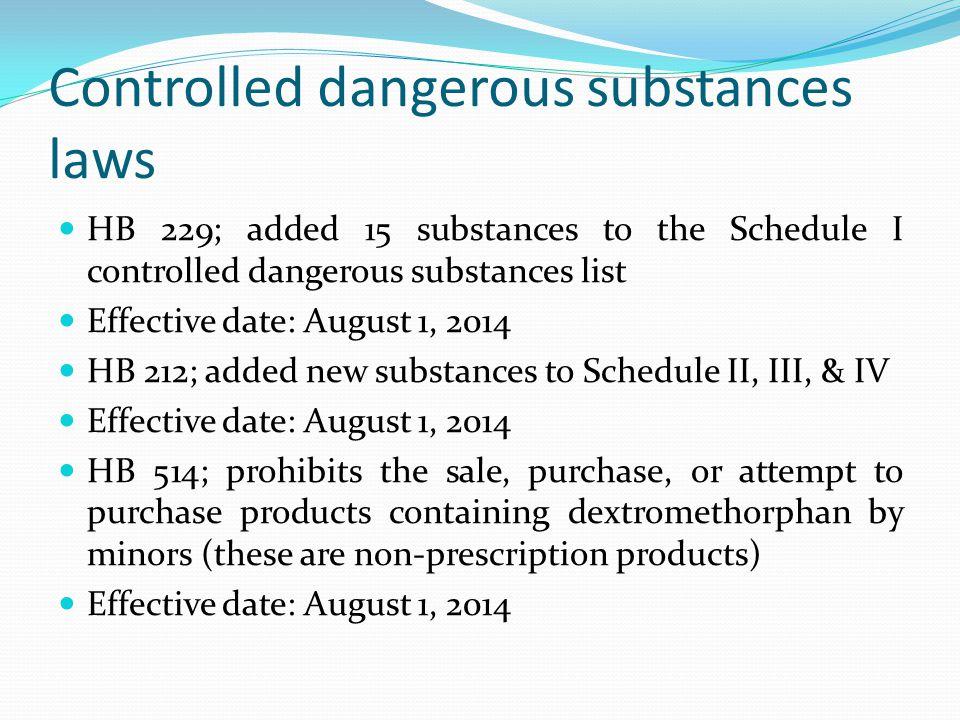 Controlled dangerous substances laws