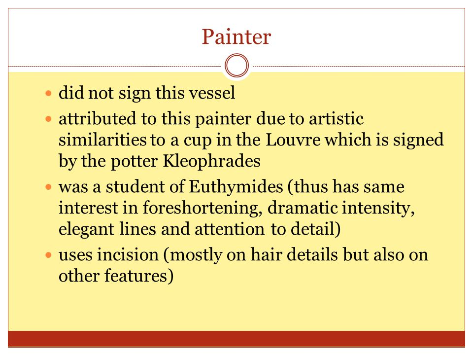 Painter did not sign this vessel