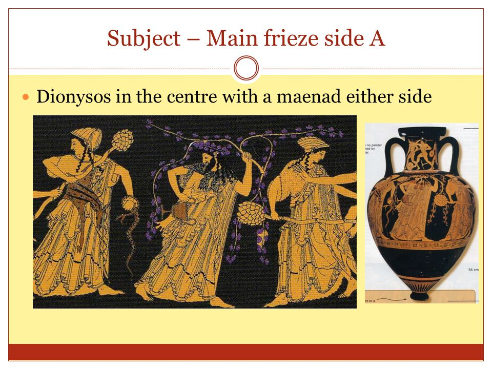 Subject – Main frieze side A