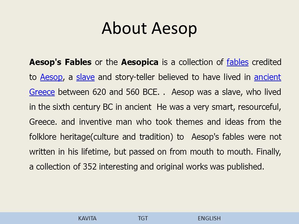 About Aesop