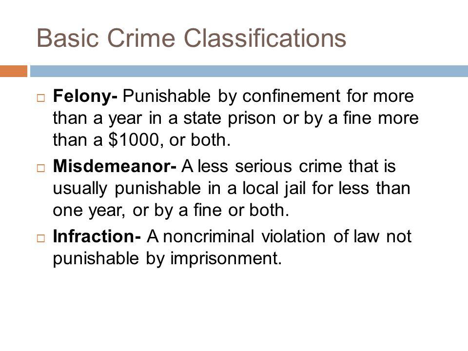 Basic Crime Classifications