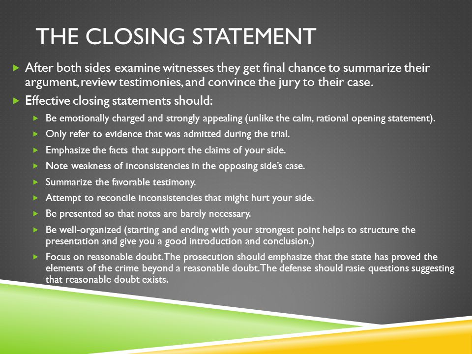 Closing statements for informational essays