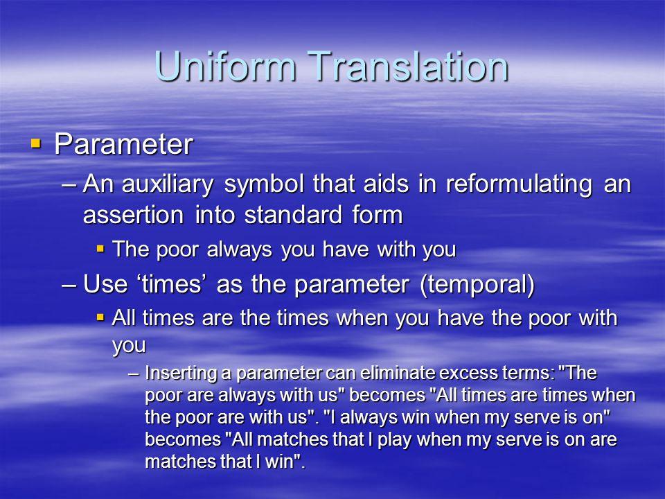 Uniform Translation Parameter