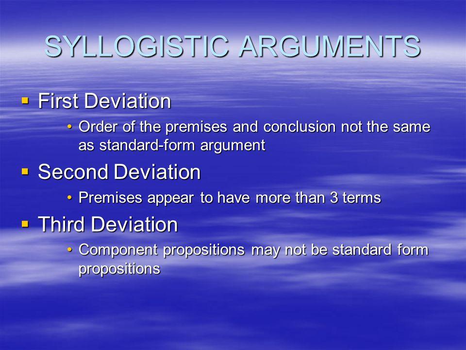 SYLLOGISTIC ARGUMENTS