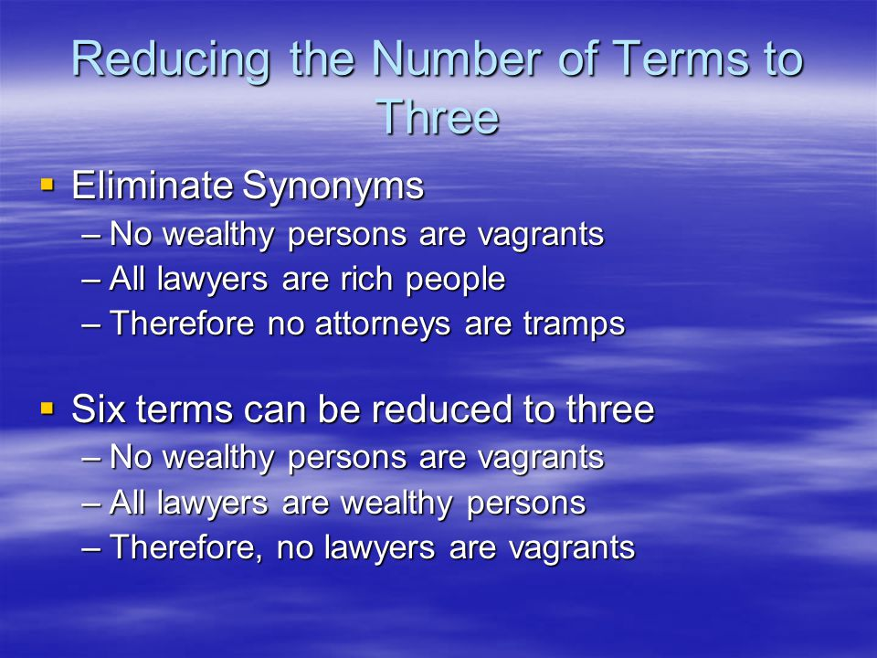 Reducing the Number of Terms to Three