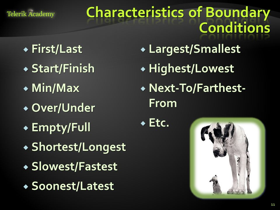 Characteristics of Boundary Conditions