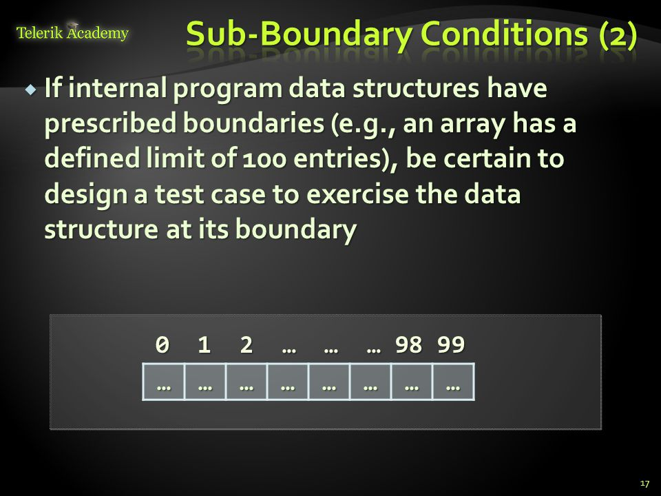 Sub-Boundary Conditions (2)