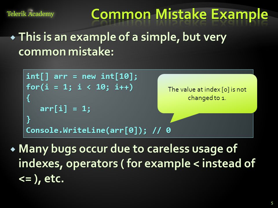 Common Mistake Example