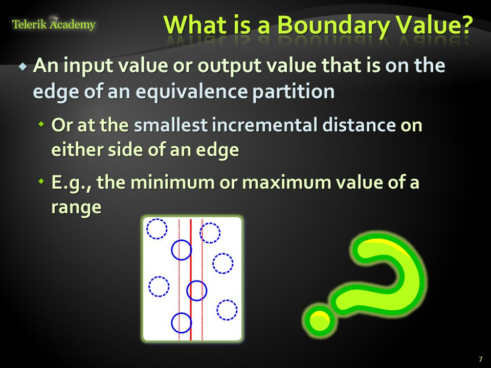 What is a Boundary Value