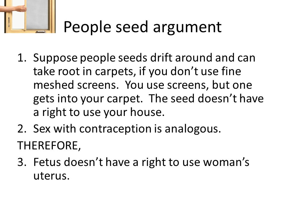People seed argument