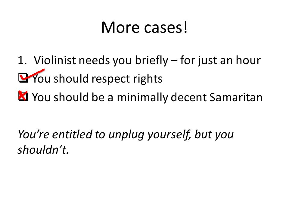 More cases! Violinist needs you briefly – for just an hour