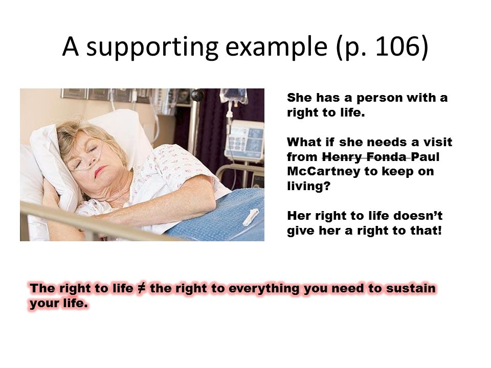A supporting example (p. 106)