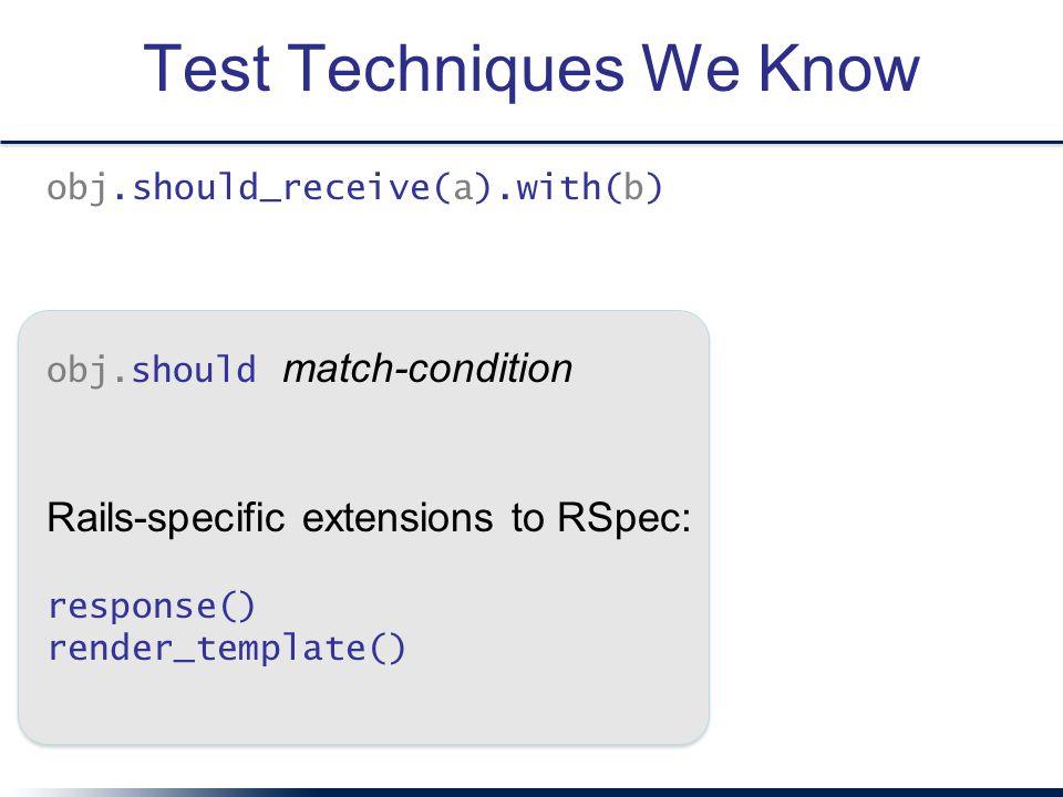 Test Techniques We Know