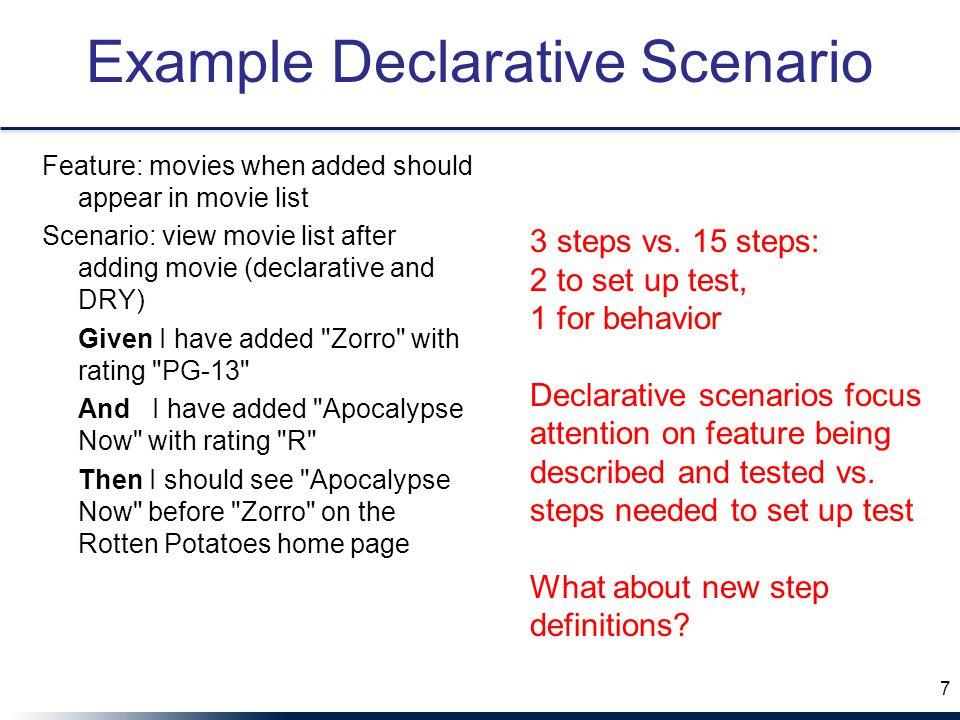 Example Declarative Scenario
