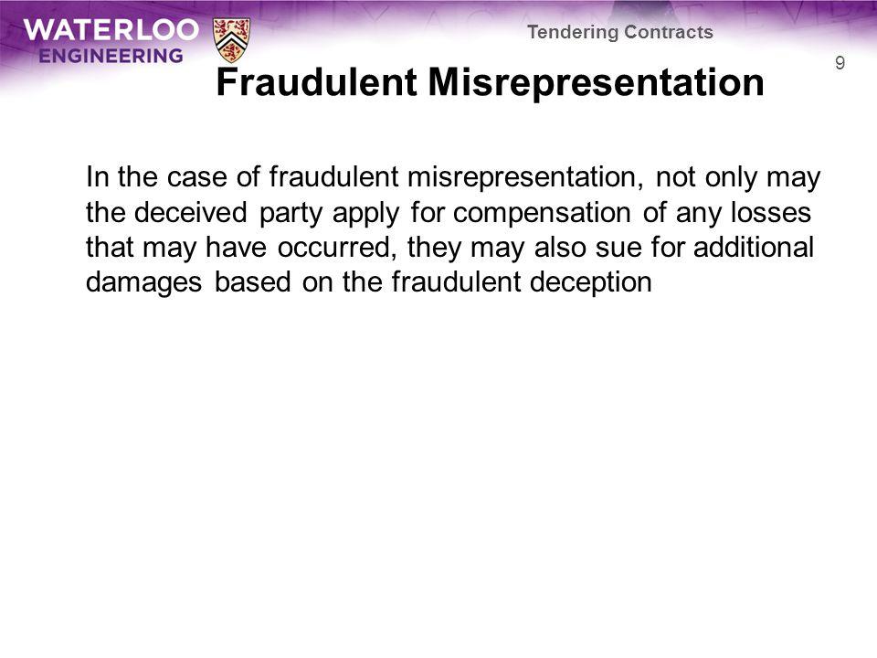 Fraudulent Misrepresentation