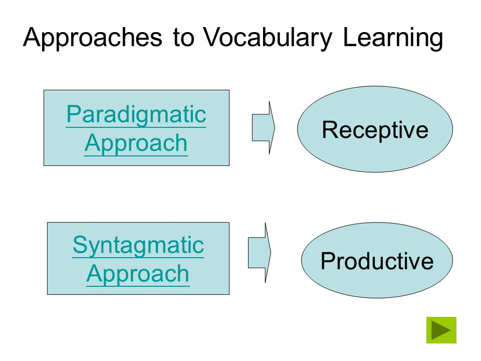 Approaches to Vocabulary Learning