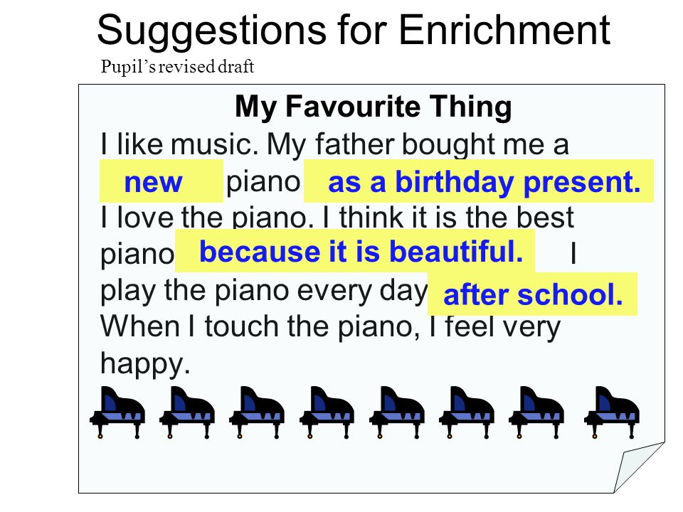 Suggestions for Enrichment