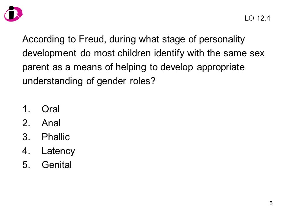 According to Freud, during what stage of personality