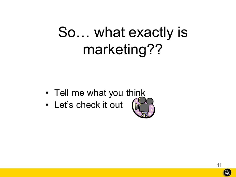So… what exactly is marketing