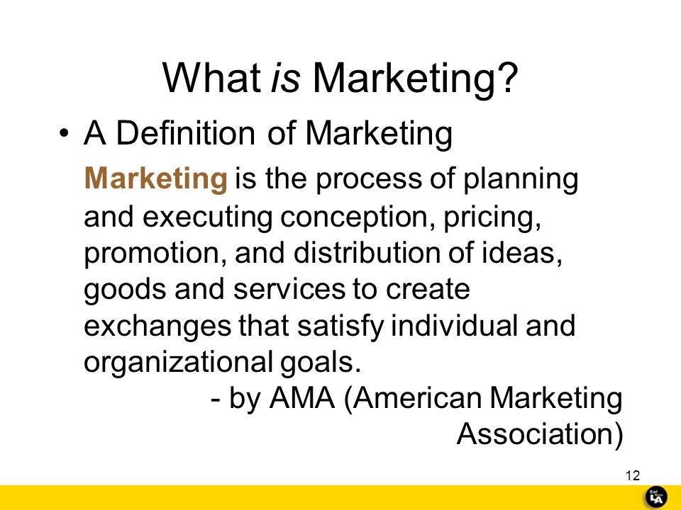 What is Marketing A Definition of Marketing.