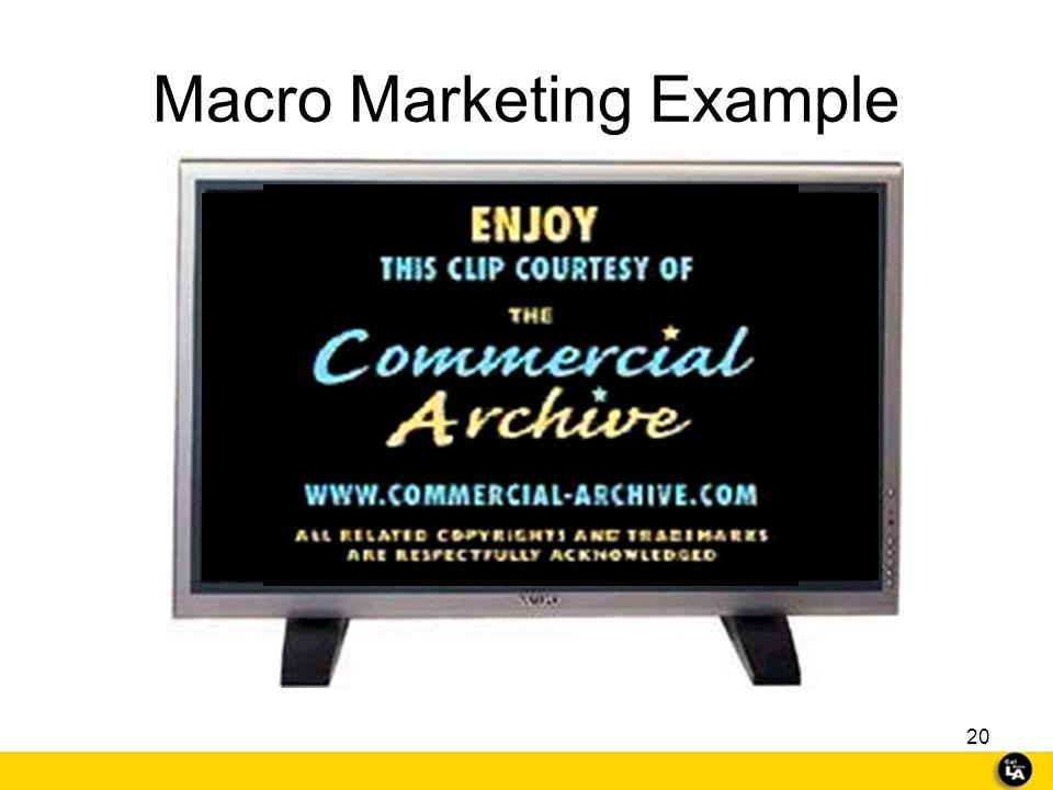 Macro Marketing Example