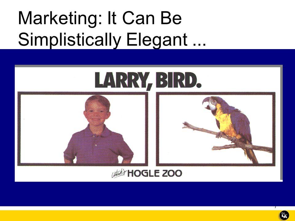 Marketing: It Can Be Simplistically Elegant ...