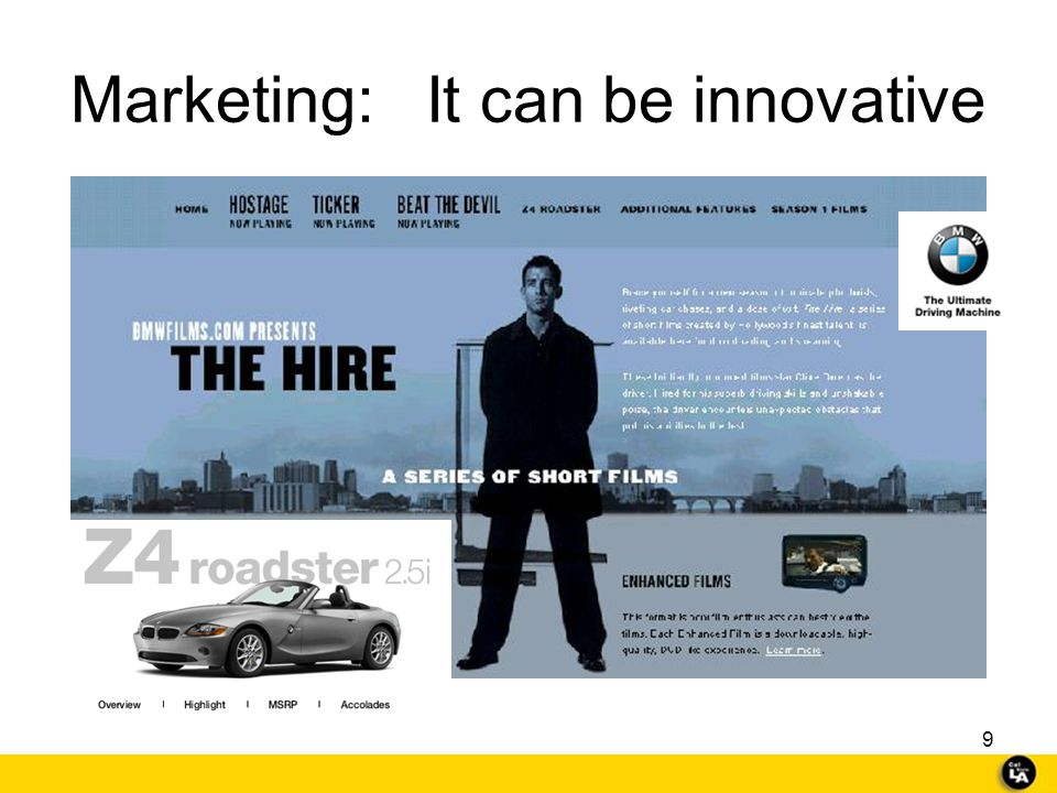 Marketing: It can be innovative