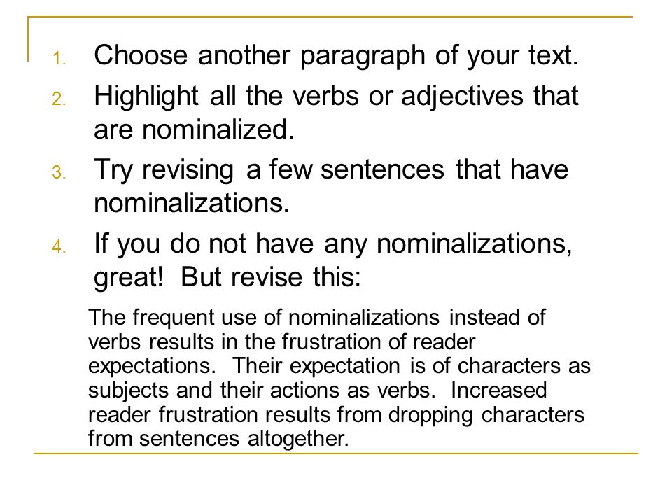 Choose another paragraph of your text.