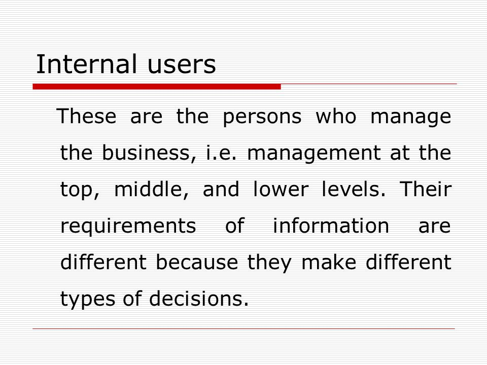 Internal users