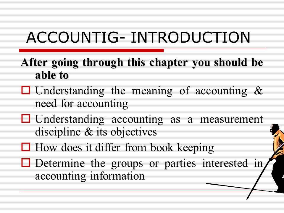 ACCOUNTIG- INTRODUCTION