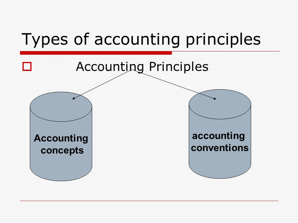 Types of accounting principles