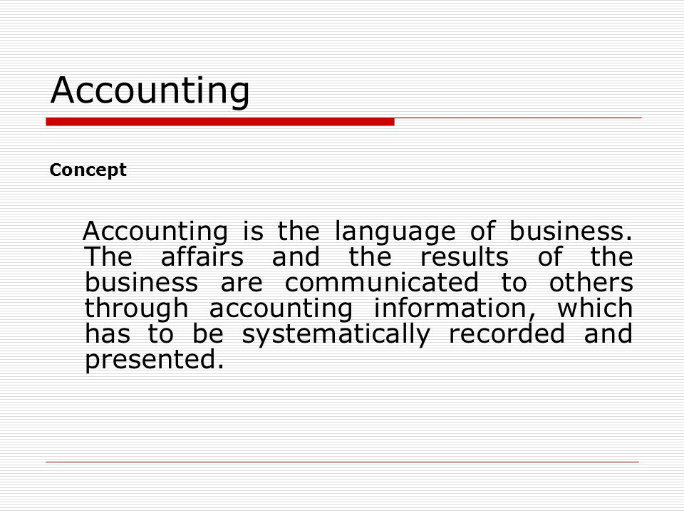 Accounting Concept.