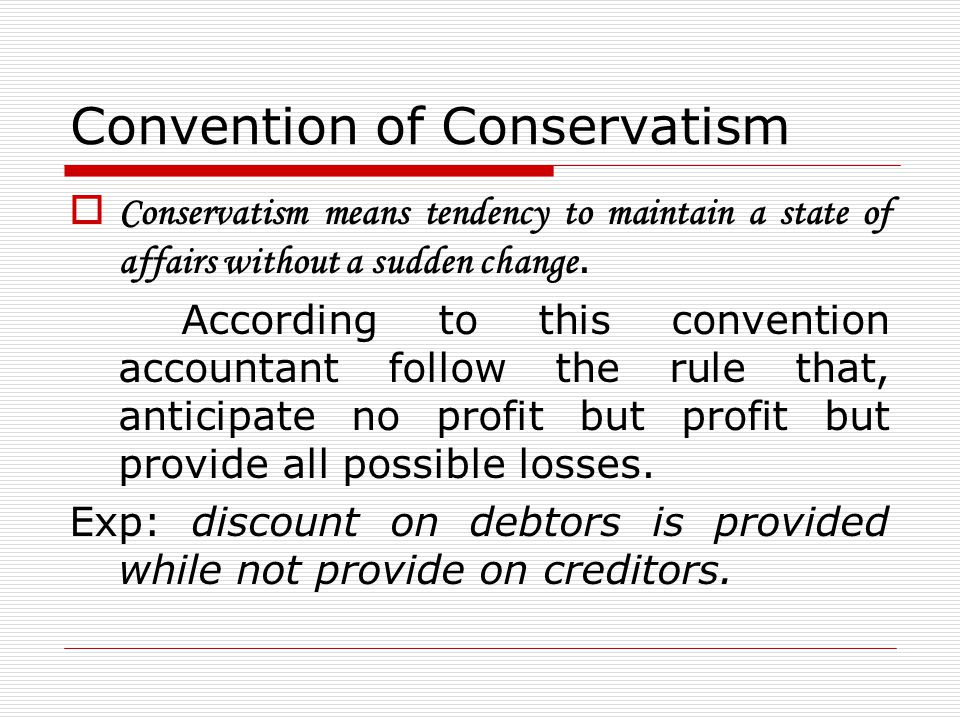 Convention of Conservatism