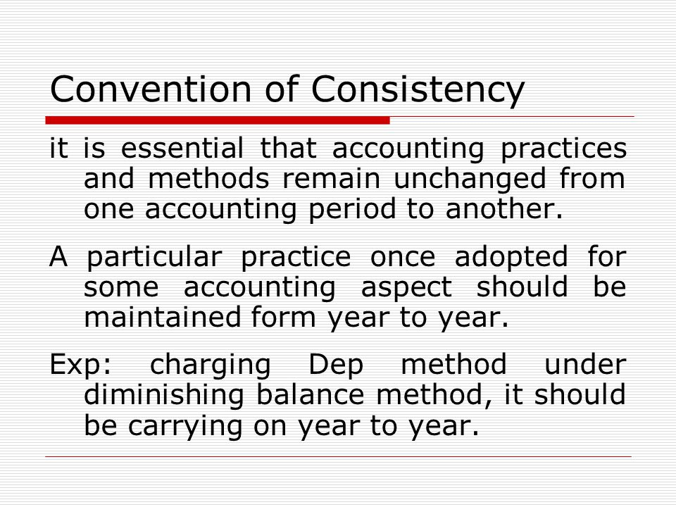 Convention of Consistency