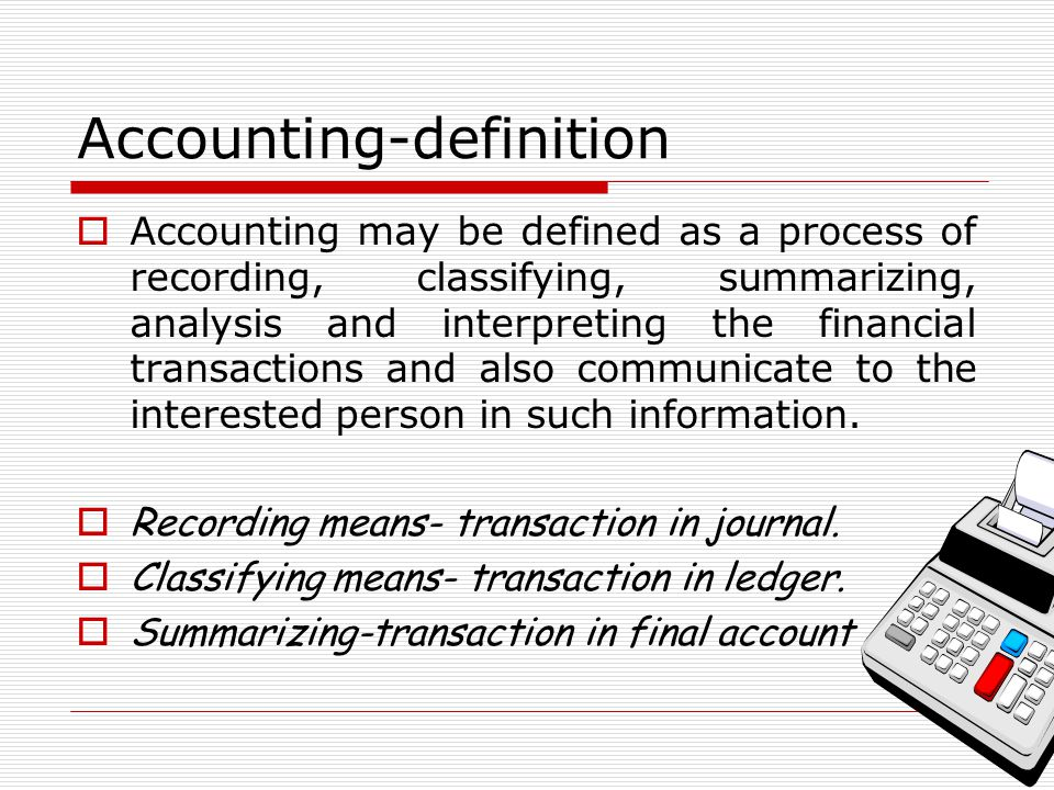 Accounting-definition