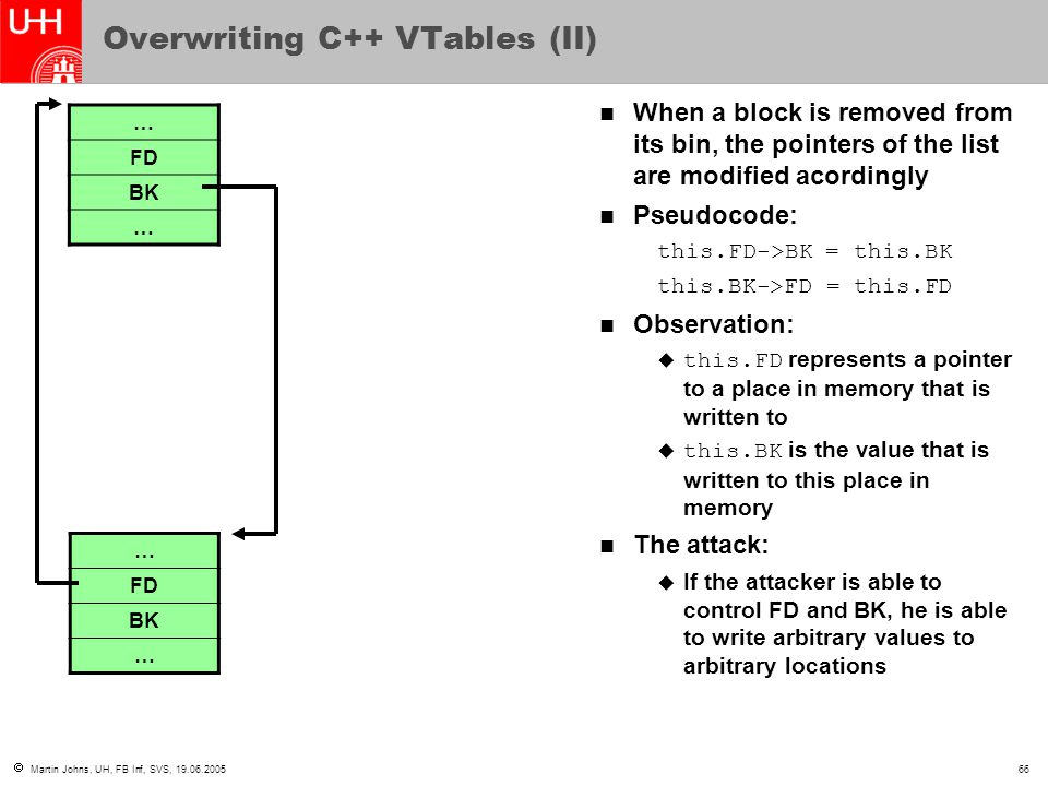 Overwriting C++ VTables (II)