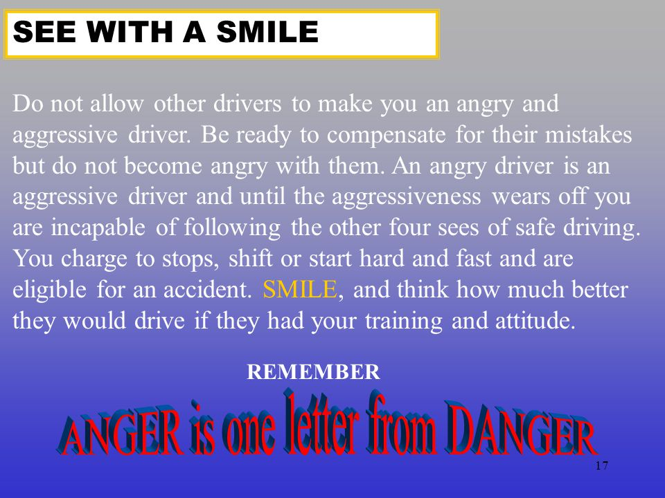ANGER is one letter from DANGER
