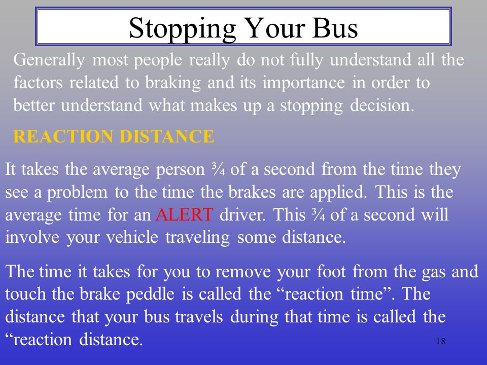 Stopping Your Bus