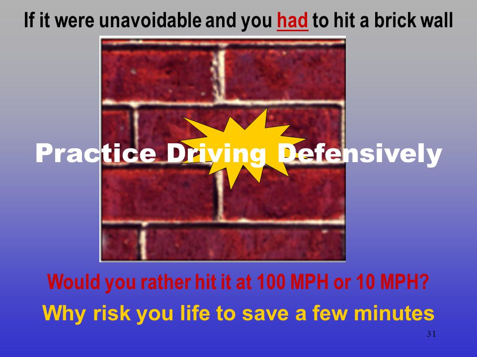 Practice Driving Defensively