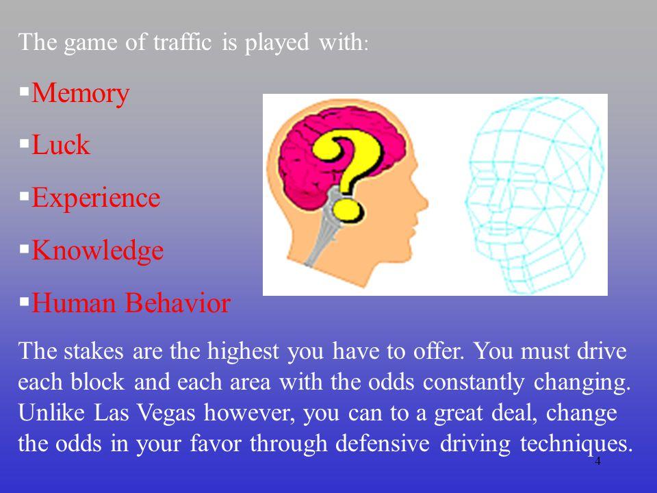 Memory Luck Experience Knowledge Human Behavior