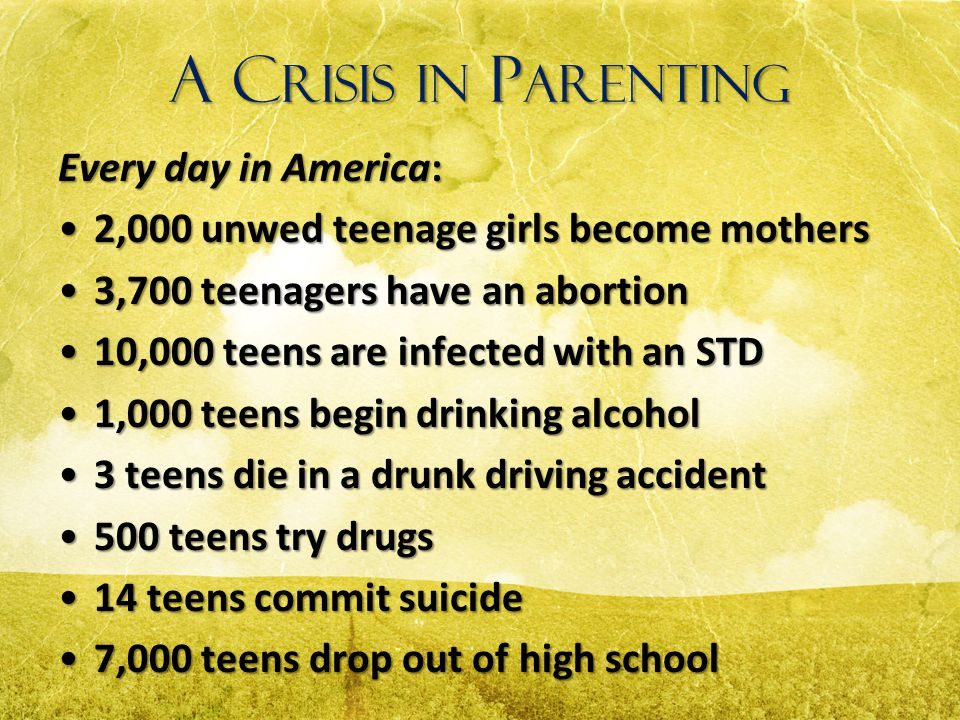 A Crisis in Parenting Every day in America: