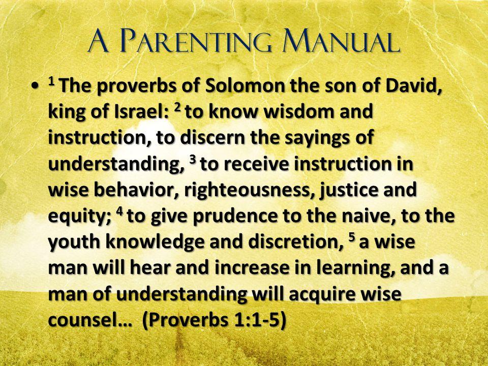 A Parenting Manual