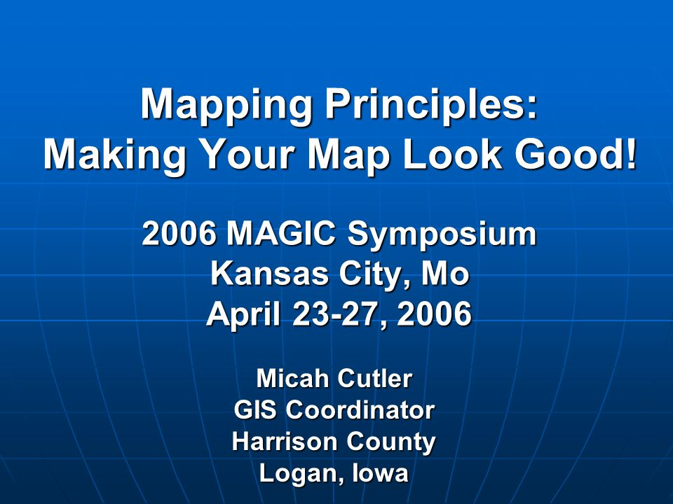 Micah Cutler GIS Coordinator Harrison County Logan, Iowa