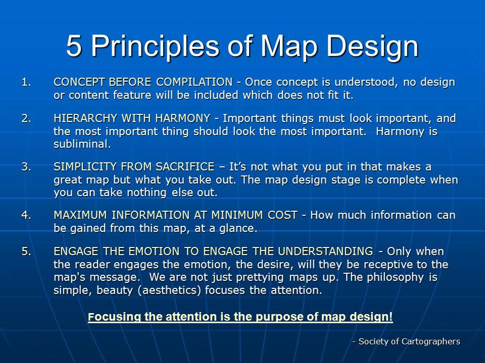 5 Principles of Map Design
