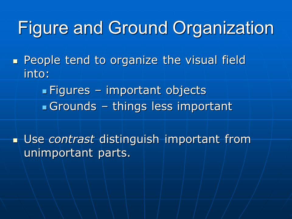 Figure and Ground Organization