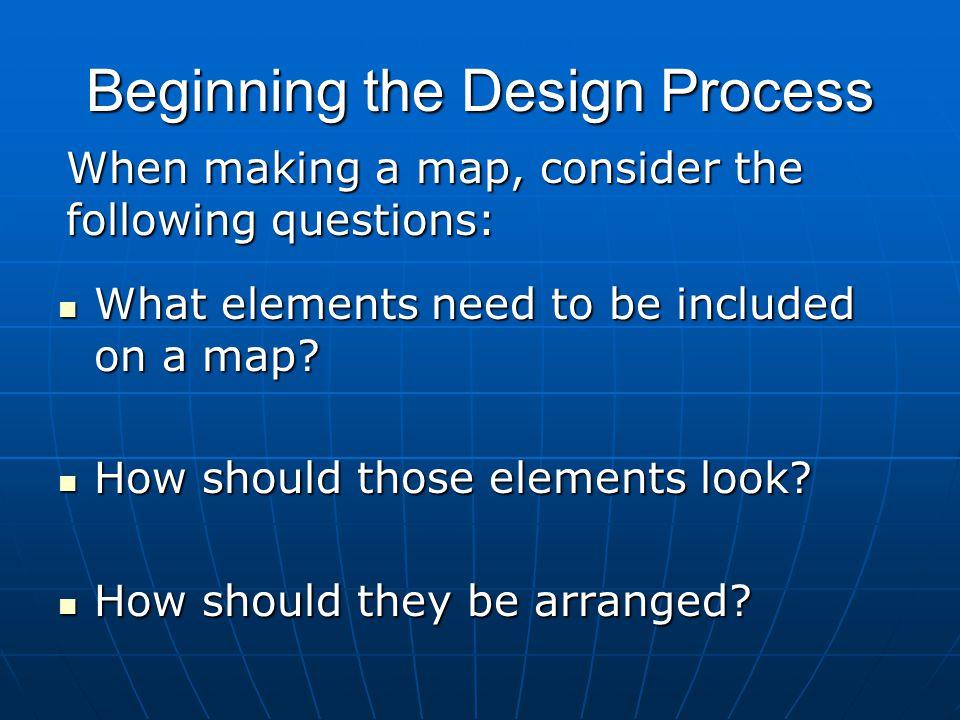 Beginning the Design Process