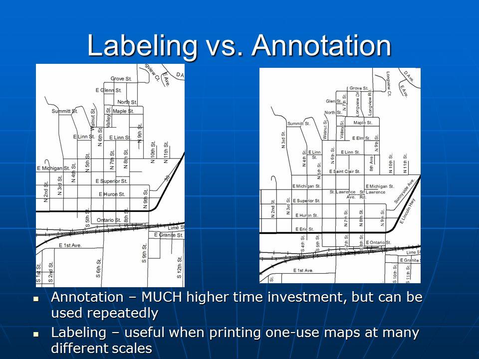 Labeling vs. Annotation