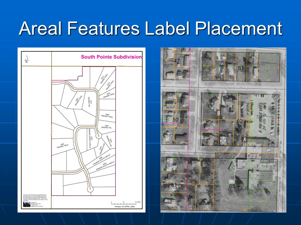 Areal Features Label Placement
